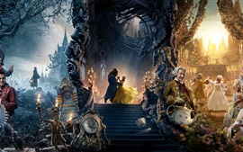 Preview wallpaper Beauty and the Beast, Disney movie 2017