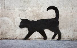 Paseo del gato negro, graffiti, pared