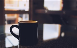 미리보기 배경 화면 검은 컵, 테이블
