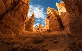 Preview wallpaper Bryce Canyon, mountains, rocks, sky, clouds, USA