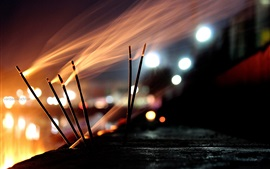 Aperçu fond d'écran Brûler de l'encens, de la fumée
