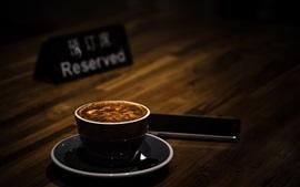 Cappuccino, coffee, foam, blurry background