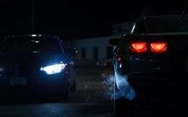 Автомобильные огни ночью