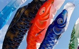 Carpa, lanternas, cultura japonesa
