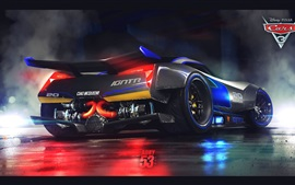 Cars 3, Disney, Pixar movie, supercar rear view