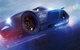 Carros 3, velocidade supercarbo azul