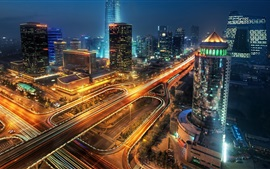 Preview wallpaper China, city, buildings, skyscrapers, lights, night