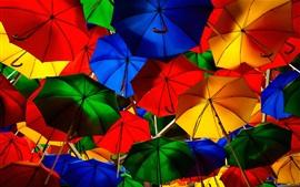 Aperçu fond d'écran Parapluies colorés, rue