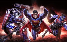Preview wallpaper DC comics, Warner Games, Superman