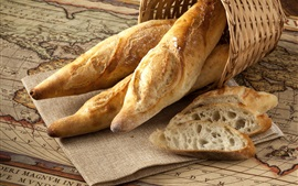 Preview wallpaper Delicious bread, basket