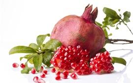 Preview wallpaper Delicious pomegranate, white background
