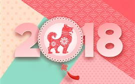 Preview wallpaper Dog year, Happy 2018