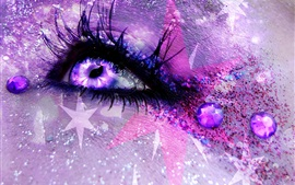 Preview wallpaper Eyes, colorful, shine, creative picture
