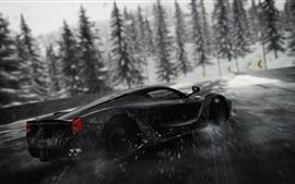 Ferrari black supercar speed, drift