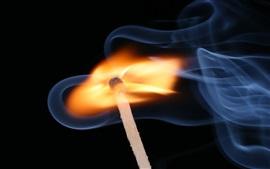 壁紙のプレビュー 火災、マッチ、煙
