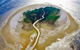Preview wallpaper Frisian Islands, Netherlands, top view