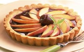 Preview wallpaper Fruit pie, pear, cherry