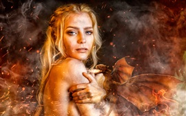 Preview wallpaper Game of Thrones, Daenerys Targaryen, cosplay girl