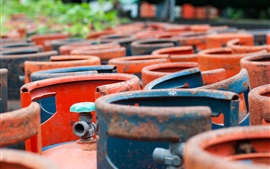 Preview wallpaper Gas metal bottles, colors, rust