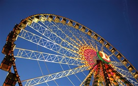 Germany, Stuttgart, ferris wheel, blue sky