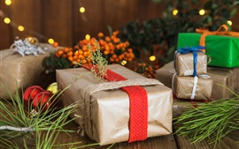 Подарки, ягоды, ящики, Новый год