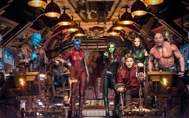 Preview wallpaper Guardians of the Galaxy Vol. 2, characters in spaceship