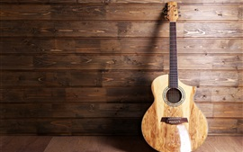 Preview wallpaper Guitar, musical, wood background
