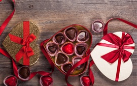 Preview wallpaper Happy Valentine's Day, gift, sweet chocolate candy, romantic, love heart