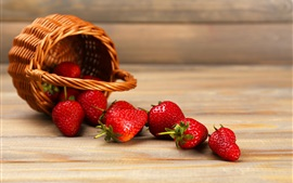 Preview wallpaper Juicy fruit, strawberry, basket