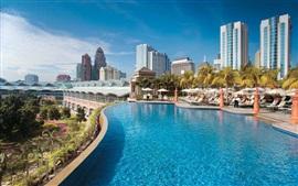 Preview wallpaper Kuala Lumpur, Malaysia, swimming pool, resort