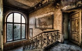 Лестница, дом, руины