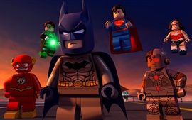 Preview wallpaper Lego movie, DC Comics, superheroes