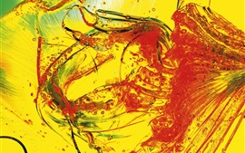 Preview wallpaper Liquid, glass, yellow