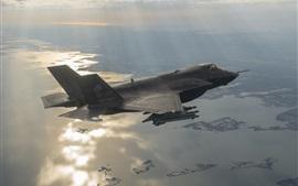 Preview wallpaper Lockheed Martin F-35B bomber flight