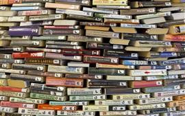 Muchos libros de fondo