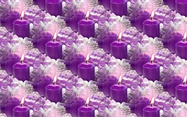 Preview wallpaper Many purple candles, flame, fire