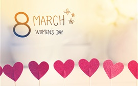 Preview wallpaper March 8, Women's Day, love hearts