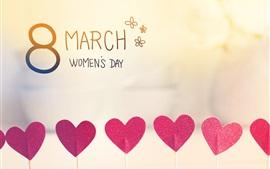Aperçu fond d'écran 8 mars, Journée de la femme, les coeurs d'amour