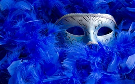 Preview wallpaper Mask, blue feathers