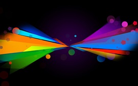 Preview wallpaper Multicolored lines, symmetry, abstract