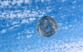 Preview wallpaper Net ball in the blue sky, clouds