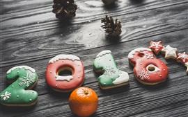 Año Nuevo 2018, galletas
