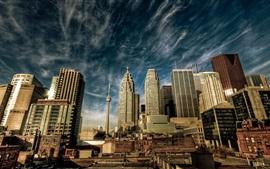 Aperçu fond d'écran New York, États-Unis, gratte-ciels, bâtiments, vue sur la ville