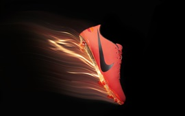 Preview wallpaper Nike red shoes