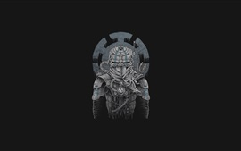 Preview wallpaper Ninja, art, black background