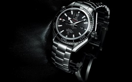 Preview wallpaper Omega watch, black style