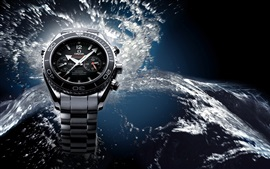 Preview wallpaper Omega watches, water splash