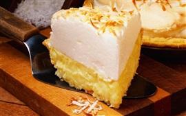 Preview wallpaper Pie, cream, slice