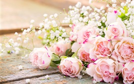 Preview wallpaper Pink roses, flowers