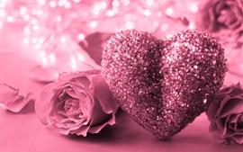 Coração rosa amor coração, rosa, brilho, romântico